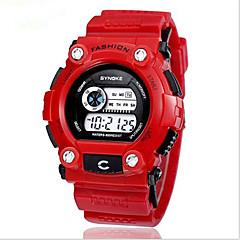 SYNOKE Dziecięce Zegarek na nadgarstek Zegarek cyfrowy Kwarcowy CyfroweLCD Kalendarz Chronograf Wodoszczelny Dwie strefy czasowe alarm