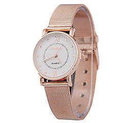 여성의 패션 초박형 벨트 골드 쿼츠 간단한 부부의 로맨스 시간 로마 엽맥의 분포 시계 장미