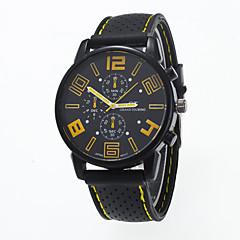 Heren Modieus horloge Kwarts Vrijetijdshorloge Silicone Band Zwart Merk-