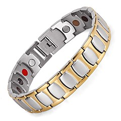 Healing Magnetic Bracelet Men/Woman 316L Stainless Steel 5 Health Care Elements Gold Bracelets & Bangles Hand Chain