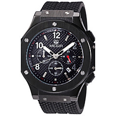 MEGIR® Men's  Silicone Band 30M Water Resistant Dress Watch Jewelry Fashion Wrist Watch Cool Watch