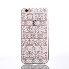 For iPhone 6 Case / iPhone 6 Plus Case Transparent / Pattern Case Back Cover Case Elephant Soft TPU iPhone 6s Plus/6 Plus / iPhone 6s/6