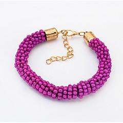Damskie Bransoletki i łańcuszki na rękę Żywica Stop Oświadczenie Biżuteria Modny Orange Purple Biżuteria 1szt