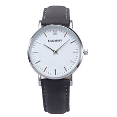 Women's Fashion Watch Casual Watch Quartz Leather Band Black Brown