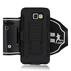 Varten Samsung Galaxy Note Iskunkestävä / Tuella / Käsivarsinauha Etui Käsivarsi Etui Panssari Kova Tekstiili SamsungNote 5 / Note 4 /