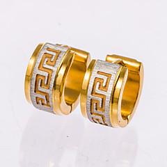 Kolczyki na sztyft Kolczyki koła Black Golden Biżuteria Na Ślub Impreza Codzienny Casual Prezenty bożonarodzeniowe 1 para