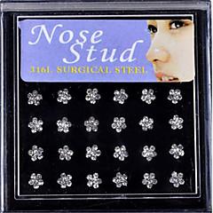 Piercings para nariz / Piercing de naríz Acero inoxidable estilo de Bohemia Dorado / Plateado Joyas,1 Set