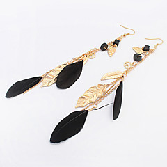 Earring Drop Earrings Jewelry Women Bohemia Style Party / Daily / Casual 1 pair Black / White / Green / Khaki