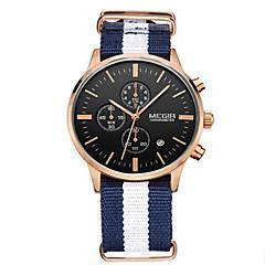 MEGIR® Men's Fabric Band 30M Water Resistant Dress Casual Watch Jewelry Fashion Wrist Watch Cool Watch