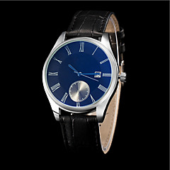 Couple's Blue Mirror Calendar Luxury Leather Brand Quartz Wristwatch Fashion Watches(Assorted colors) Cool Watches Unique Watches
