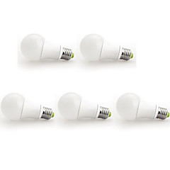 12W E26/E27 LED Globe Bulbs A60(A19) 1 COB 1160 lm Warm White AC 100-240 V 5 pcs