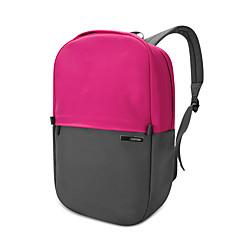 pofoko® 13.3 인치 방수 옥스포드 패브릭 노트북 배낭 핑크 / 노랑