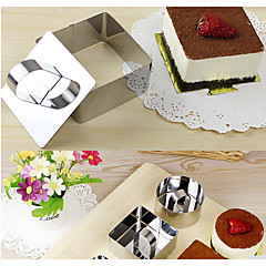Stainless Steel Square Mousse Cake Pastry Tool Fondant Cake Decorating Tools Layer Cookie Cutter Mould