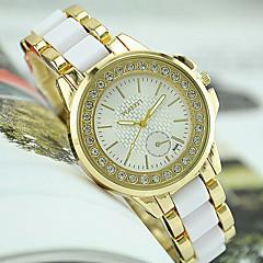 Mulheres Relógio de Moda Simulado Diamante Relógio imitação de diamante Quartzo Aço Inoxidável Banda Preta Branco