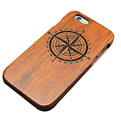 Varten iPhone 5 kotelo kotelot kuoret Kuvio Koristeltu Takakuori Etui Puukuvio Kova Puu varten Apple iPhone SE/5s iPhone 5