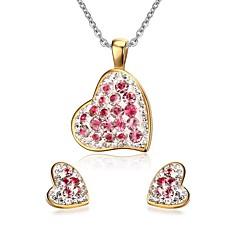Γυναικεία Σετ Κοσμημάτων απομίμηση διαμαντιών Love Καρδιά Μοντέρνα Ανοξείδωτο Ατσάλι Στρας Heart Shape Κολιέ Cercei Για Πάρτι Καθημερινά