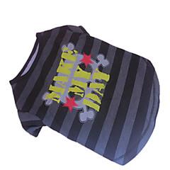 Perros Camiseta Gris Ropa para Perro Verano Cebra