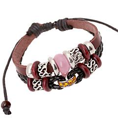 Unisex Leather Alloy Handcrafted Vintage Strand Bracelets(More Colors)