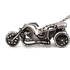 Stainless Steel Pendant Necklace Motorcycle Rider