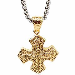 thai mand personlighed tværs vedhæng halskæde, guld genoprette gamle måder (ekskl kæde)