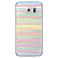 For Samsung Galaxy S7 Edge Transparent Mønster Etui Bagcover Etui Linjeret / bølget Blødt TPU for SamsungS7 edge S7 S6 edge plus S6 edge