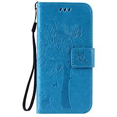 Πλήρης Σώμα Βάση Καρτών / Στρας / με Stand / Μοτίβο Culori solide Συνθετικό δέρμα Moale Card Holder, Case Cover για το AppleiPhone 6s