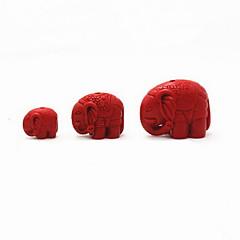 joyería de bricolaje encanto cinabrio elefante