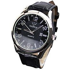 남녀의 패션 석영 손목 캐주얼 가죽 벨트 간단한 라운드 합금 멋진 시계 독특한 시계 다이얼 시계