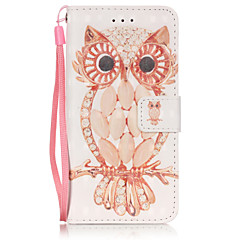 For iPhone 6 etui iPhone 6 Plus etui Pung Kortholder Flip Etui Heldækkende Etui Ugle Blødt Kunstlæder for AppleiPhone 6s Plus/6 Plus
