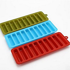 Cylindrical Mold Silicone Lattice Even 10-Hole Finger Biscuit Mold Silicone Lattice Popsicles D-333 5Pcs