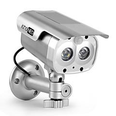 flaş kingneo 305s iç / dış mekan güneş enerjili kukla güvenlik kamera simüle gözetim kamera 1pc gümüş açtı