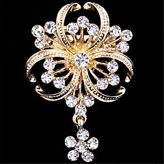 Γυναικεία Καρφίτσες απομίμηση διαμαντιών Μοντέρνα Χρυσαφί Κοσμήματα Γάμου Πάρτι Ειδική Περίσταση Γενέθλια Καθημερινά Causal
