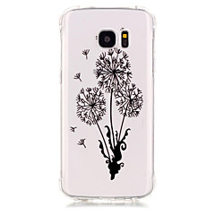 TPU Material Dandelion Pattern Bronzing Phone Case for Samsung Galaxy S7 Edge/S7/S6/S5