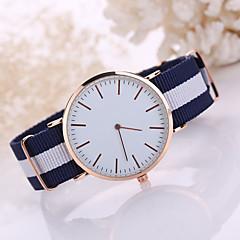 Masculino Mulheres Relógio Elegante Quartzo Relógio Casual Tecido Banda Preta Branco Azul Vermelho Branco Vermelho