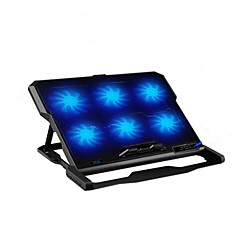 Six Fans Ergonomic Cooler Cooling Pad With Stand Holder for Laptop Notebook