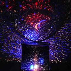 väriä vaihtava tähti kauneus tähtitaivas projektori yövalo (3xAA, random väri)