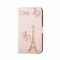 Mert Samsung Galaxy tok Kártyatartó / Strassz / Flip Case Teljes védelem Case Eiffel torony Műbőr SamsungS7 edge / S7 / S6 edge plus / S6