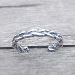 Anéis Fashion Diário / Casual Jóias Prata de Lei Feminino / Masculino / Casal Anéis Grossos 1pç,Tamanho Único Preto / Prateado