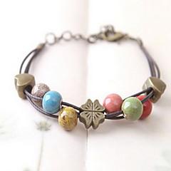 Dames Strand Armbanden Verstelbaar Kostuum juwelen Keramiek Sieraden Klavertje vier Sieraden Voor Dagelijks Causaal