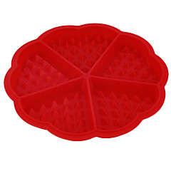 1 Horneando Herramienta para hornear Pizza / Chocolate / Hielo / Pan / Pastel / Galleta / Cupcake / Tarta Silicona Moldes para horno