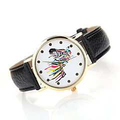 Women's Fashion Watch Casual Watch Quartz Japanese Quartz Leather Band Black White Brown Multi-Colored