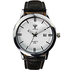 Men's Fashion Quartz Wrist Casual Watches Leather Belt Simple Round Alloy Dial Cool Watches Unique Watches