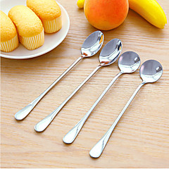 Set of 2 Double Metal Spoon For Coffee Salad Dinner Cooking Stir