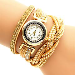 Femme Montre Tendance / Bracelet Montre / Bracelet de Montre Quartz Montre Décontractée / Imitation de diamant PU BandeNoir / Blanc /