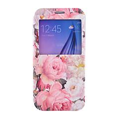 Peony Pattern PU Leather Phone Case For Samsung Galaxy S4 /S5 /S6/ S4 Mini / S5 Mini