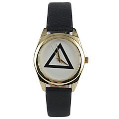 Женские Модные часы Защита от влаги Кварцевый PU Группа Повседневная Черный