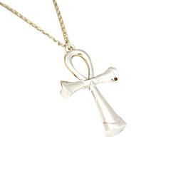colgante de acero de titanio collar con una cruz (con exclusión de la cadena)