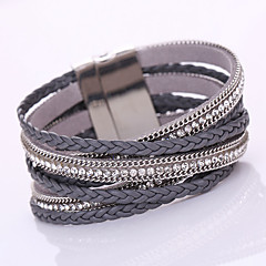 New 2016 Bracelets For Women Fashion Jewelry With High-Grade Leather Chain Suction Automatically Magnetic