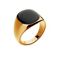 Anéis Fashion Pesta / Diário / Casual Jóias Liga / Opala Masculino Anéis Grossos 1pç,8 / 9 / 10 Dourado / Prateado
