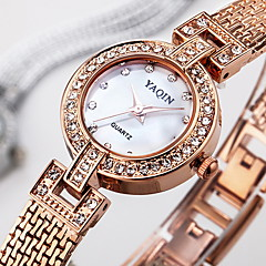 Women's Dress Watch Bracelet Watch / Quartz Japanese Quartz Alloy Band Sparkle Elegant Silver Rose Gold